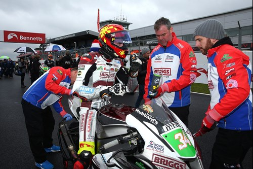 Jordan Weaving Briggs Superbike sponsorship grid